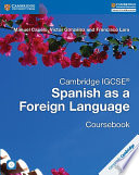 Books - Cambridge Igcse� Spanish As A Foreign Language Coursebook With Audio Cd | ISBN 9781316635537