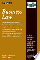 """""""Business Law"""" by Robert W. Emerson"""