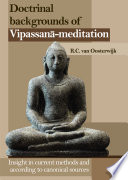 Doctrinal Backgrounds of Vipassana-Meditation