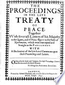 The Proceedings In The Late Treaty Of Peace