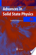 Advances in Solid State Physics Book