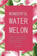 Pdf Wonderful Watermelon!