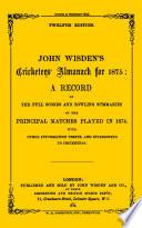 Wisden Cricketers' Almanack 1875