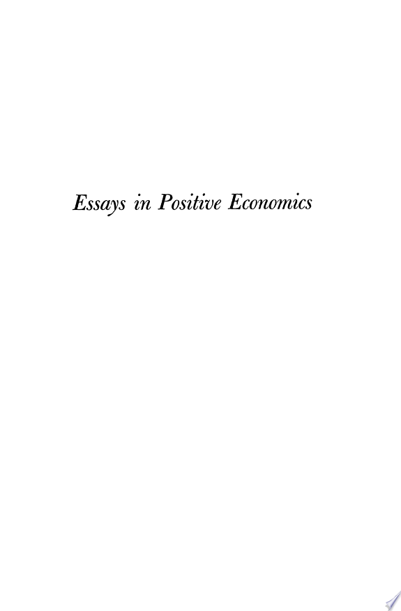Essays in Positive Economics