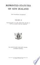 Reprinted Statutes of New Zealand