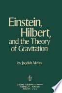 Einstein  Hilbert  and The Theory of Gravitation