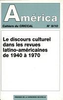 Le Discours culturel dans les revues latino-américaines (1940-1970)