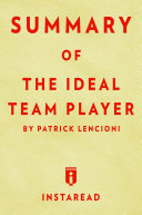 Pdf The Ideal Team Player Telecharger