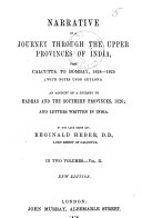Narrative of a Journey Through the Upper Provinces of India, from Calcutta to Bambay, 1824-1825; (With Notes Upon Ceylon,) an Account of a Journey to Madras and the Southern Provinces, 1826, and Letters Written in India ebook