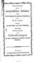Verzeichniss aller anonymischen Schriften in der vierten Ausgabe des gelehrten Teutschlands
