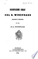 Dissertazioni legali del B. Winspeare, raccolte et publicate per cura di G. Winspeare. vol. 1