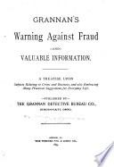 Grannan's Warning Against Fraud
