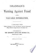 Grannan s Warning Against Fraud