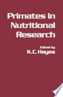Primates In Nutritional Research Book PDF