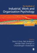 The SAGE Handbook of Industrial  Work   Organizational Psychology  2e  V1