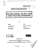 Waterlogging  salinity and crop yield relationships