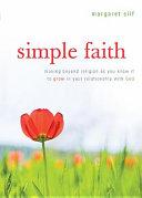 Simple Faith Book