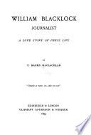 William Blacklock  Journalist Book