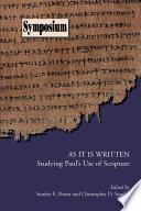 As it is Written Book