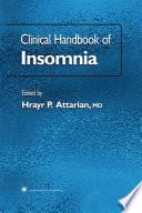 Clinical Handbook of Insomnia Book