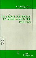 Front National en région centre 1984-1992