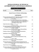 Indian Journal of Physical Anthropology and Human Genetics Book