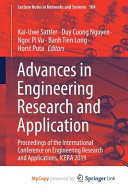 Advances In Engineering Research And Application Book PDF