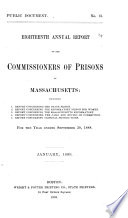 Annual Report of the Commissioners of Prisons of Massachusetts