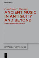 Pdf Ancient Music in Antiquity and Beyond Telecharger