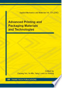 Advanced Printing and Packaging Materials and Technologies Book