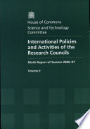 International Policies And Activities Of The Research Councils