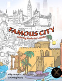Famous CITY Coloring Books for Adults  City Escapes Coloring Book Book