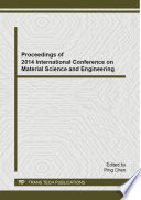Proceedings of 2014 International Conference on Material Science and Engineering