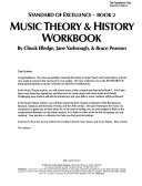 Music theory and history workbook