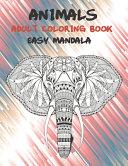 Adult Coloring Book Easy Mandala   Animals