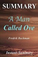 Summary   a Man Called Ove