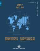 Pdf Monthly Bulletin of Statistics, May 2017 Telecharger