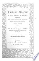 Familiar Words Book