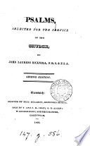 Psalms, selected for the service of the Church, by J.L. Bicknell