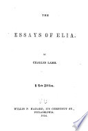 The essays of Elia...