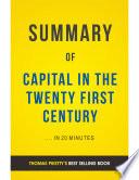 Capital in the Twenty First Century  by Thomas Piketty   Summary   Analysis Book PDF