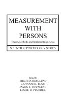 Measurement With Persons