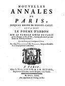 Nouvelles annales de Paris, jusqu'au regne de Hugues-Capet
