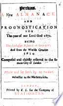 Perkins A New Almanack And Prognostication For The Year Of Our Lord God 1671