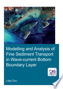 Modelling and Analysis of Fine Sediment Transport in Wave Current Bottom Boundary Layer