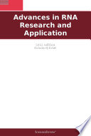 Advances In Rna Research And Application 2012 Edition