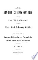 The American Galloway Herd Book
