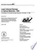 Laser Induced Damage in Optical Materials, 1989
