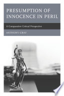 Presumption of Innocence in Peril Book