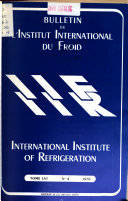 Bulletin - International Institute of Refrigeration